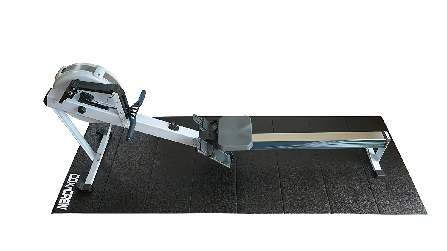 106 Inches by 39 Inches COXnCREW Treadmill Rowing Machine and Exercise Equipment Foldable PVC Mat Stationary Bike