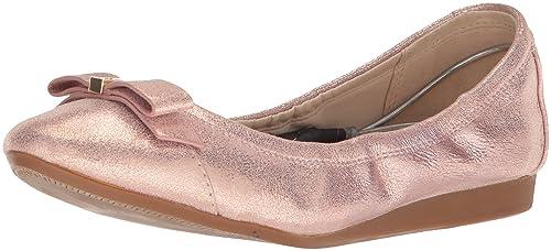 b0eacb15f Cole Haan Women's Elsie II Ballet Flat, Dusty Pink Shimmer Leather, ...