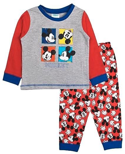 8ca20a8e254d Amazon.com  Disney Mickey Mouse Faces Baby Little Boys Pajamas  Clothing