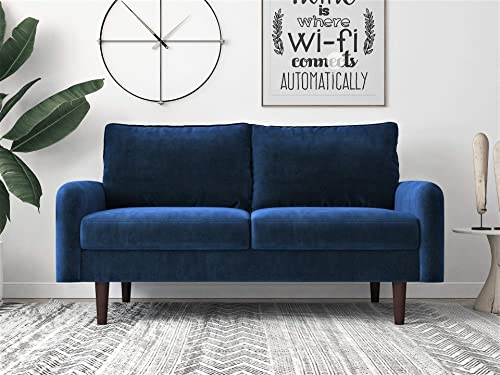 Container Furniture Direct Americus Ultra Modern Velvet Upholstered Living Room Loveseat