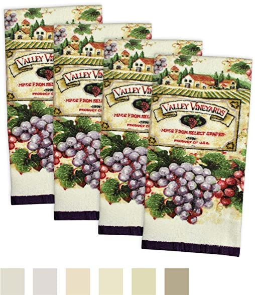 DII Cotton Printed Terry Dish Towels, 15 X 26u0026quot; Set Of 4, Ultra