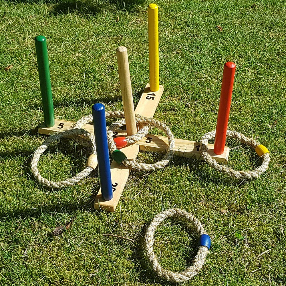 GrowUpSmart Ring Toss Game Set for Kids and Adults - Fun On The Lawn Or in The Yard for The Whole Family by GrowUpSmart