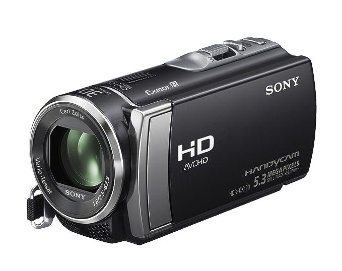 amazon com sony hdr cx190 high definition handycam 5 3 mp rh amazon com JVC Video Camera Panasonic Video Camera