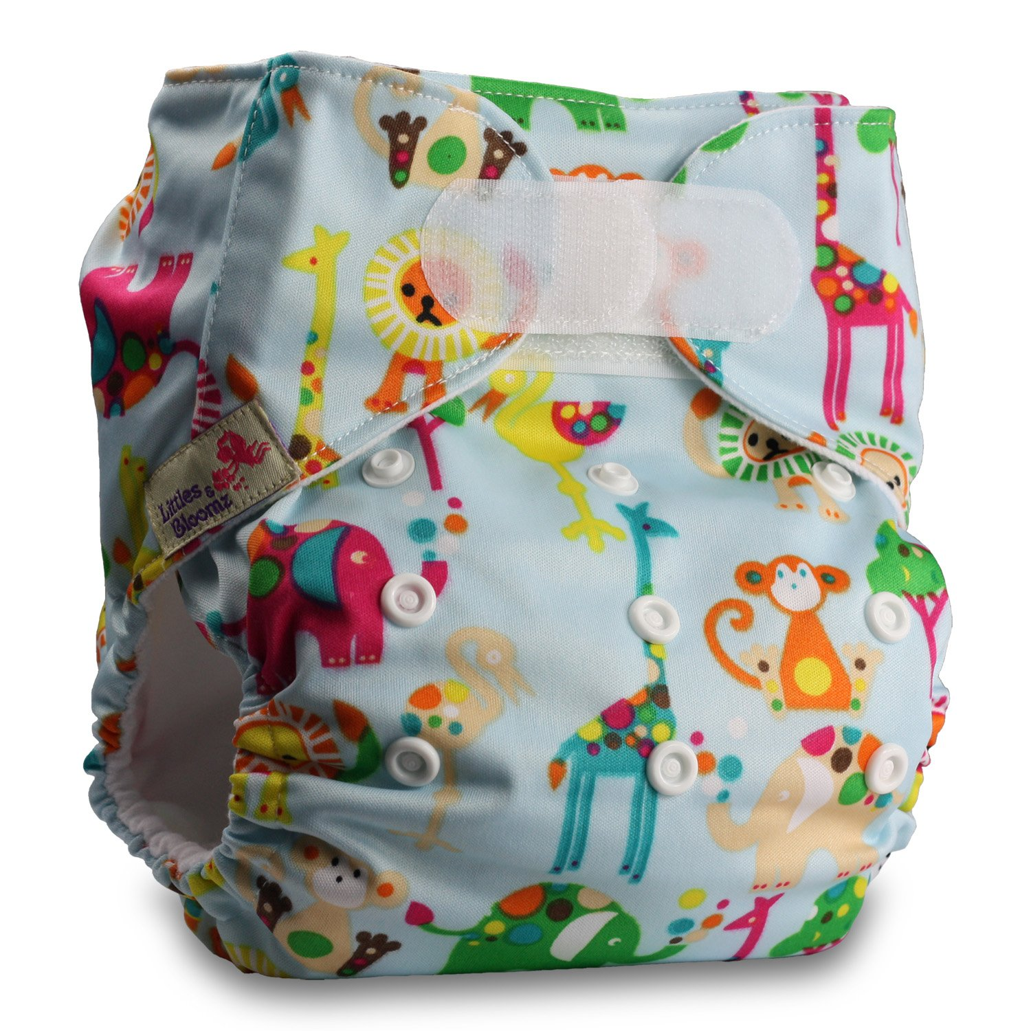 Reusable Pocket Cloth Nappy with 1 Bamboo Charcoal Insert Set of 1 Pattern 46 Littles /& Bloomz Fastener: Hook-Loop