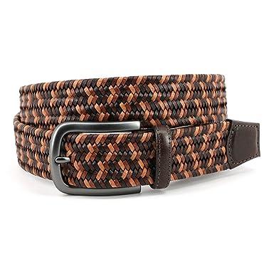 Men/'s 35mm Italian Woven Stretch Leather Belt Torino Leather Co