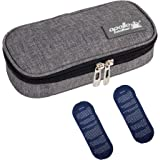 Apollo Walker Insulin Cooler Travel Case Diabetic Medication Cooler with 2 Ice Packs and Insulation Liner(Gray)