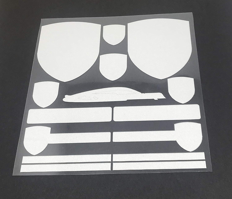 PORSCHE 3M Stick Sticker Sticker Double Sided Tape Emblem Badge Trunk Side Rear Front Logo Letters Emblems SET D