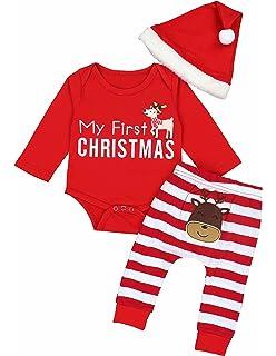 c3f7d52a6 Amazon.com: 3PCs My First Thanksgiving Outfits Newborn Baby Boy Girl ...