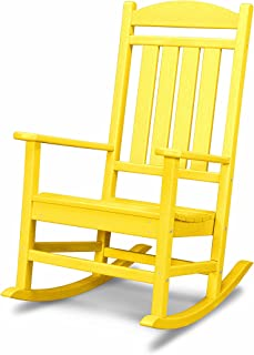 product image for POLYWOOD R100LE Presidential Outdoor Rocking Chair, Lemon
