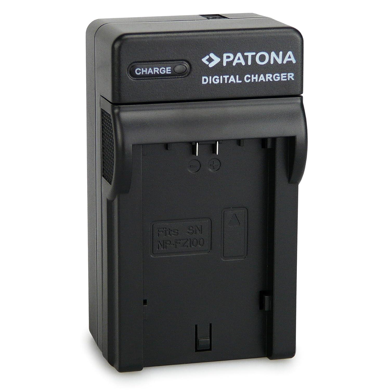 PATONA 3en1 Cargador Adecuado para Sony NP-FZ100 batería Compatible con Sony Alpha 9, 7 III, 7R III, 7RM3
