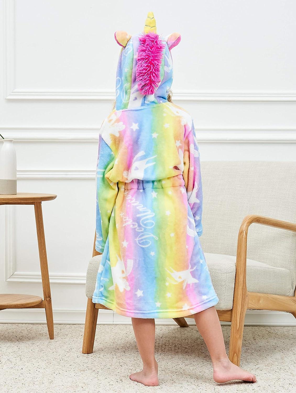 Unicorn Hooded Bathrobe with Slippers Unicorn Gifts for Girls