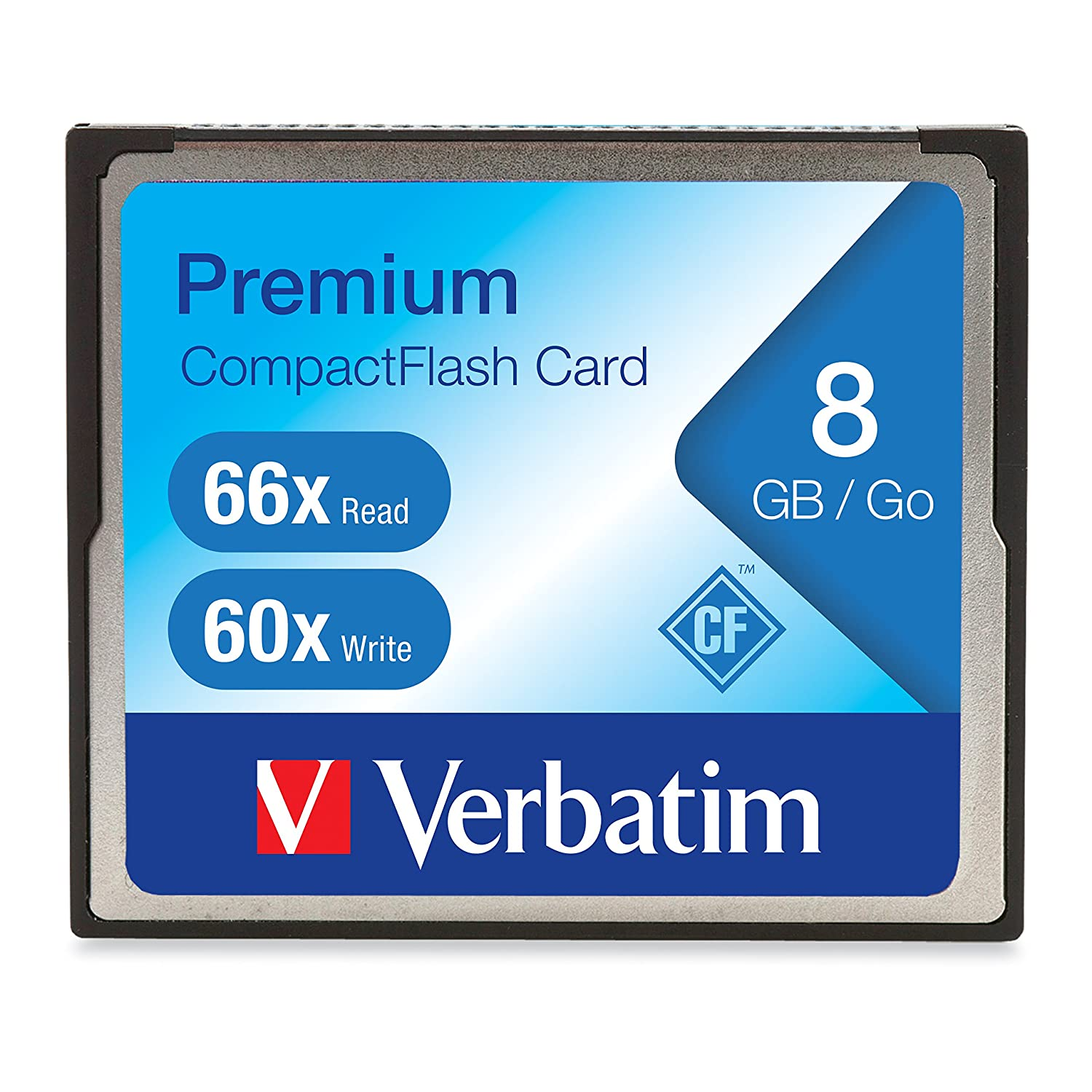 Verbatim 8GB 66X Premium CompactFlash Memory Card VERBATIM CORPORATION 96196 Flash Memory Devices