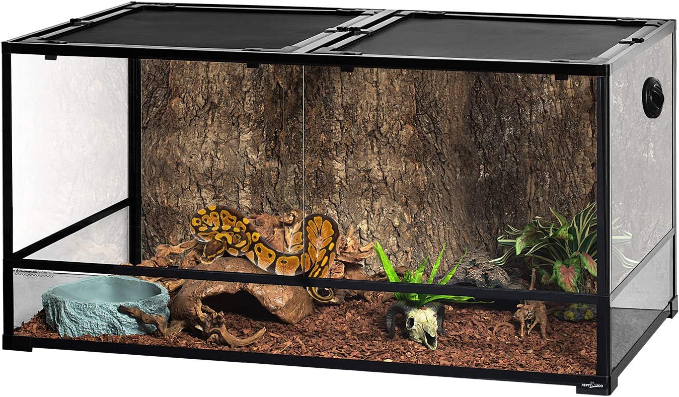 REPTI ZOO Large Glass Reptile Terrarium