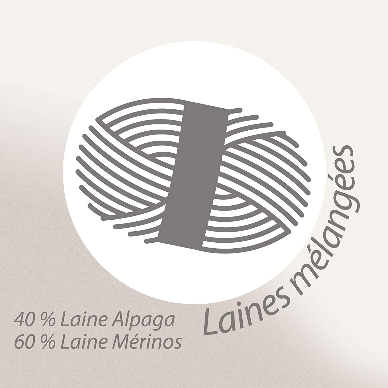 Plaid 130x170 cm 40% alpaga 60% mérinos laine 360 g m2 ANDINE Blanc Naturel   Amazon.fr  Cuisine   Maison 135584d241c