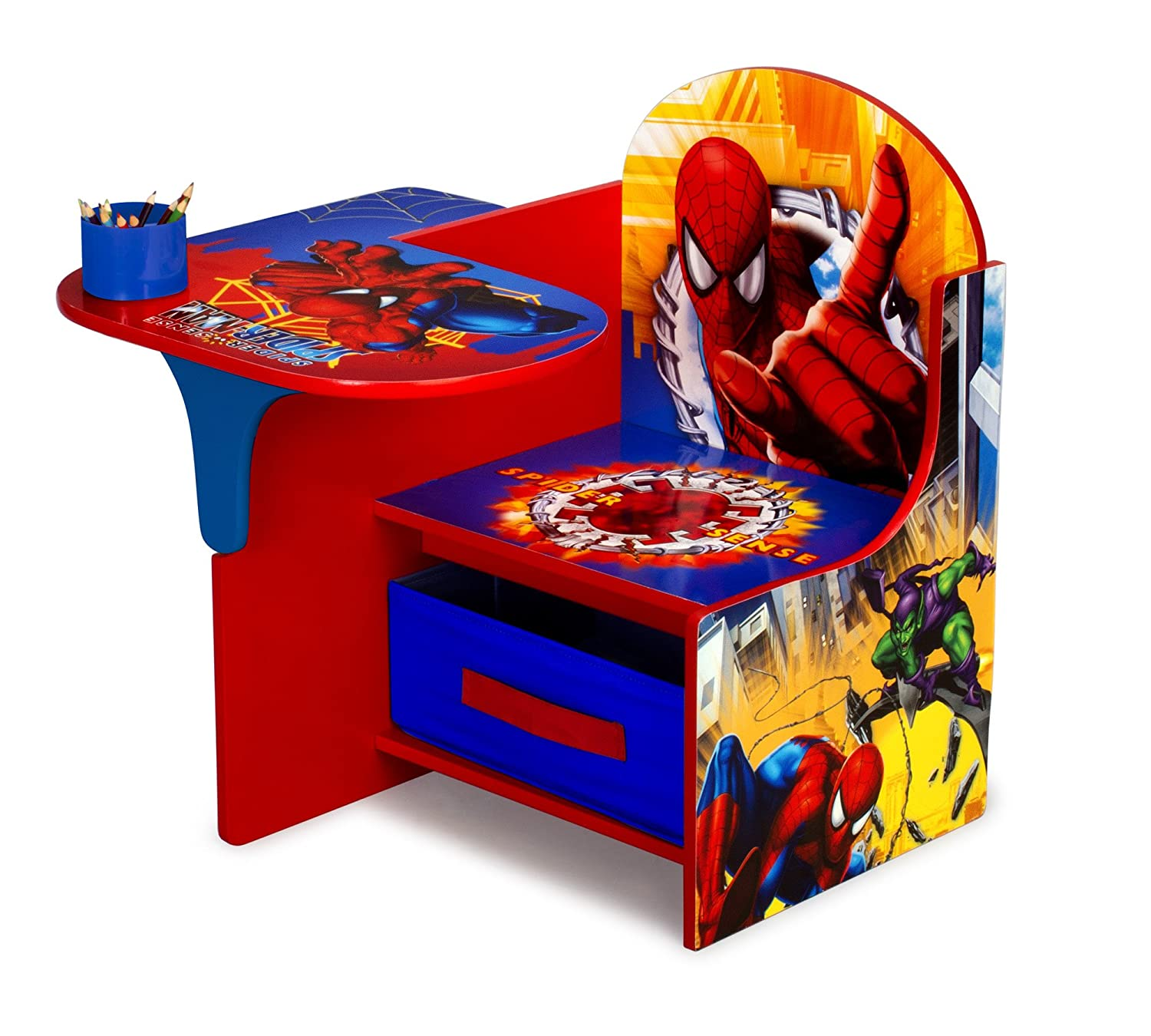 High Quality Amazon.com: Delta Enterprise Spiderman Chair Desk With Storage Bin: Toys U0026  Games