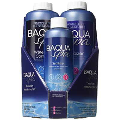 Baqua Spa 88863 3-Part Introductory Pack Spa Maintenance Kit, Clear : Garden & Outdoor