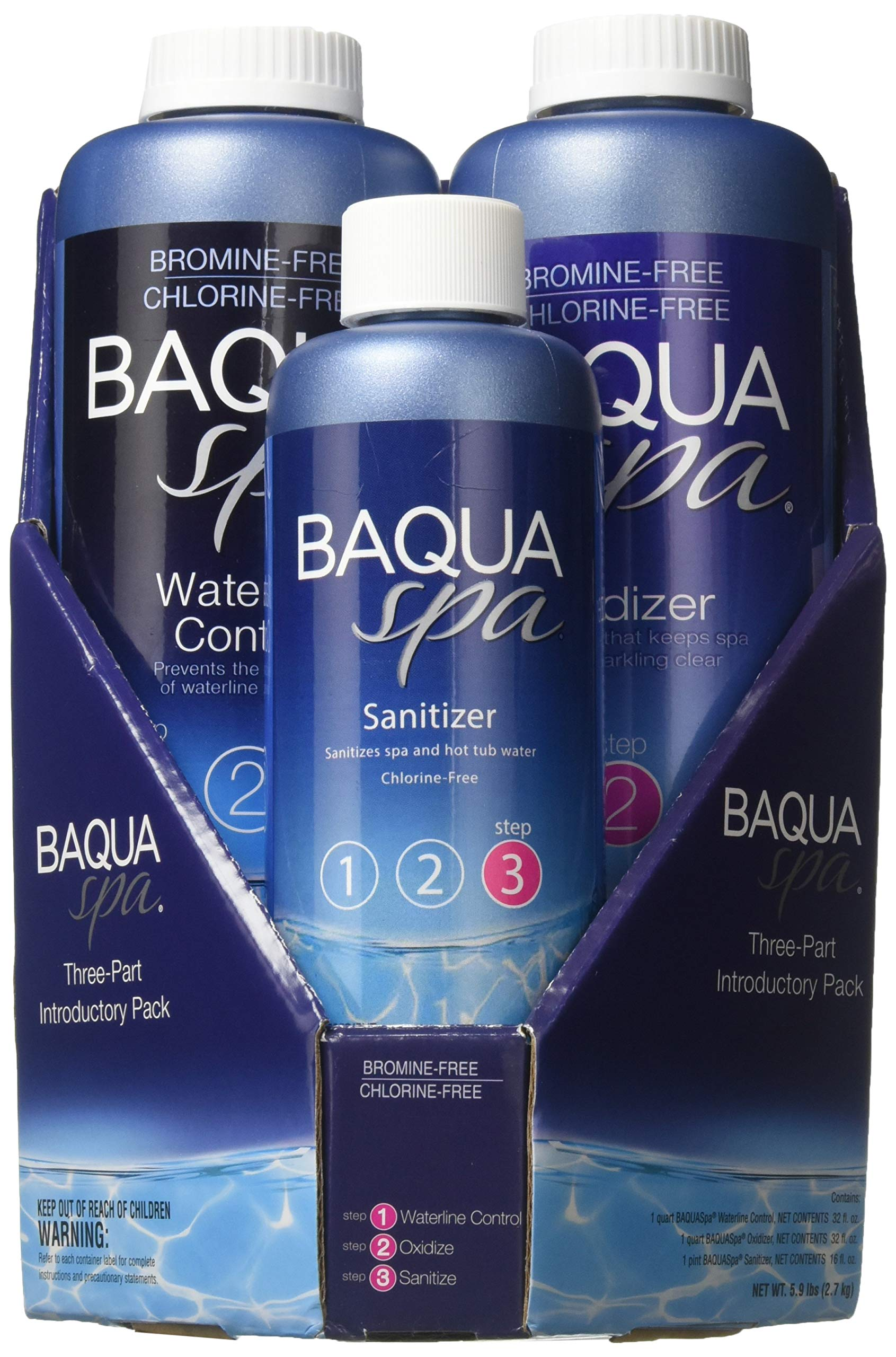Baqua Spa 88863 3-Part Introductory Pack Spa Maintenance, Clear by Baqua Spa