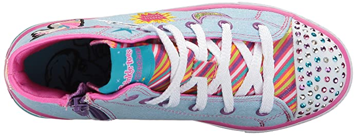 Skechers Shuffles-Twist N Turns, Zapatillas Altas para Niñas