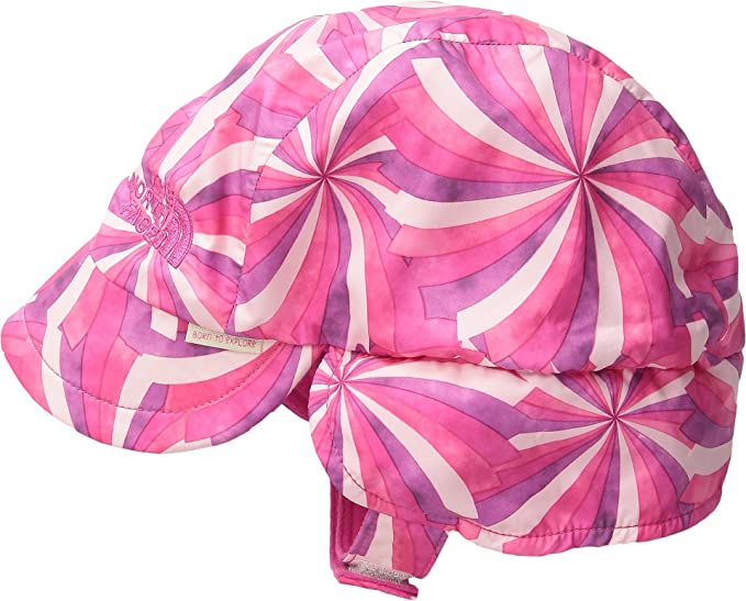 The North Face Kids Unisex Flapjacks Hat (Infant) Cha Cha Pink Pinwheel  Print ( 9d7126f883d