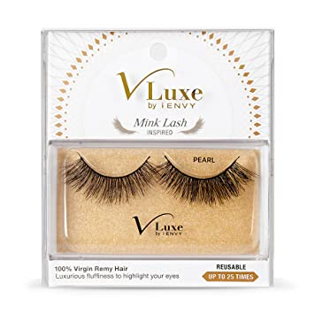 4a254df2d50 Amazon.com : V Luxe Mink Lashes Pearl (6 Pack) : Beauty