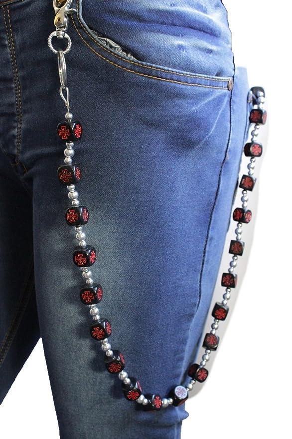 Amazon.com: TFJ cadena de portafolios hombre Jeans llavero ...
