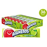 Airheads Candy, Individually Wrapped Bars, Green Apple, Easter Basket Stuffers, Non Melting, Party, 0.55 Ounce (Pack of 36)