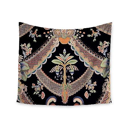 80 x 60 Fleece Blanket Kess InHouse Philip Brown Golden Curtains Orange Abstract Throw