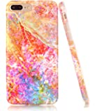 iPhone 7 Plus Case, Opal Marble Creative Design, BAISRKE Slim Flexible Soft Silicone Bumper Shockproof Gel TPU Rubber Glossy Skin Cover Case for iPhone 7 Plus & iPhone 8 Plus [5.5 inch]