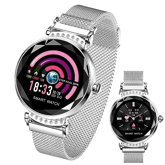Women Smart Watch HR Activity Fitness Tracker With Blood Pressure Sleep Monitor Period Reminder