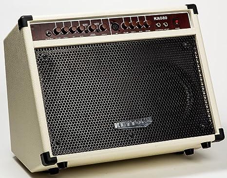 Amplificador Keytone-Guitarra electroacústica, color blanco (2 ...