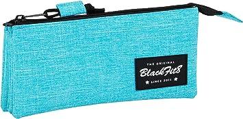 Blackfit8-Blackfit Blackfit8-Estuche portatodo Triple, 841733744, Color Azul Claro, 22 cm (SAFTA: Amazon.es: Juguetes y juegos