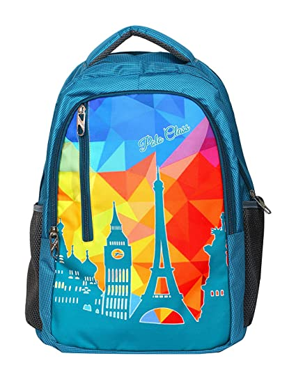 f52883af6260 POLO CLASS Fabric 25 Liters Blue School Bag (BNB-PC24)  Amazon.in  Bags