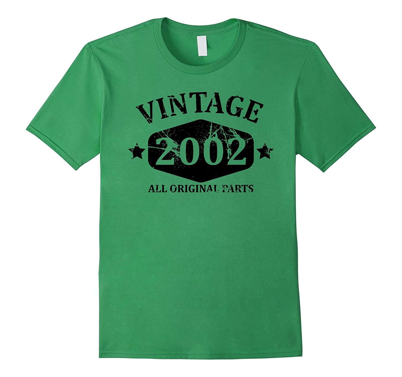 Funny Vintage 2002 15th Birthday Gift T-shirt Best Emoji Tee