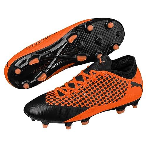 cc710c30a6adc Botas de Futbol PUMA Future 2.4 FG AG Junior Color Naranja-Negro ...