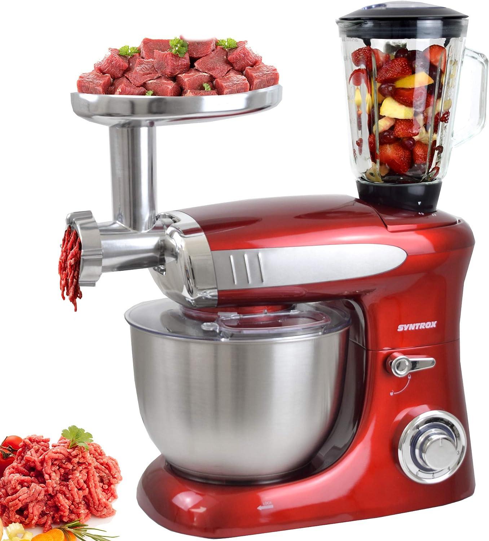Syntrox Germany KM de 1300 W Red de Luxe Robot de cocina ...