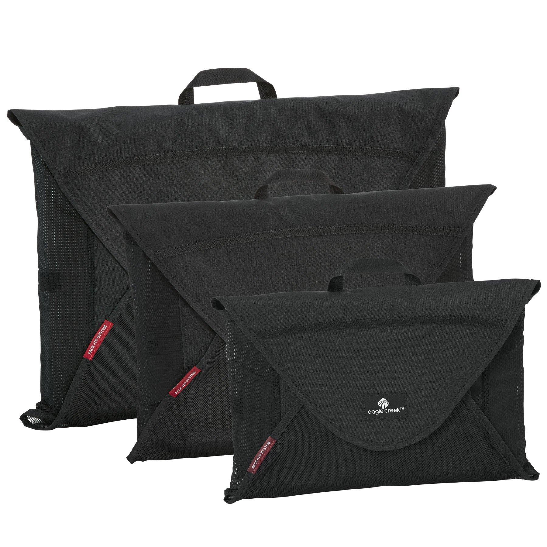 Eagle Creek Pack-It Original Garment Folder Set, Black, Set of 3 (S, M, L) by Eagle Creek