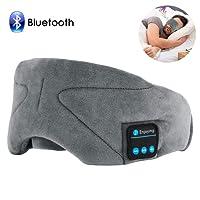 Bluetooth Schlafmaske,ink-topoint Augenmaske mit Bluetooth 4.2 Hifi Kopfhörer Schlafbrille Musik Headset Nachtmaske für Flug Reise Entspannung gegen Schlaflosigkeit,kompatibel mit iPhone iPad Samsung