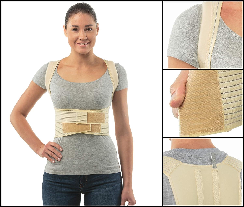 Corrector de postura cinturón de soporte de espalda de aHeal - Faja para espalda ortopédica médica corrector de columna vertebral para debajo de la ropa ...