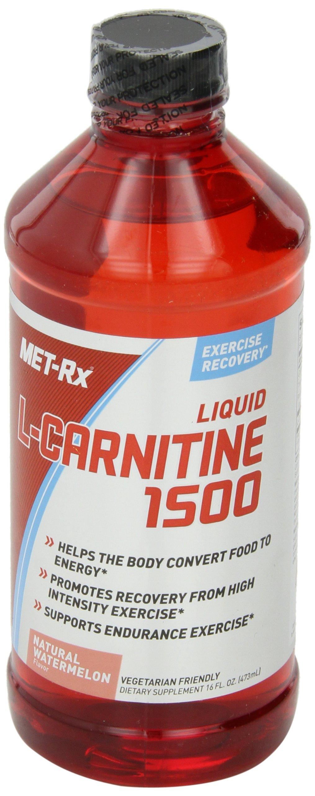 MET-Rx Liquid L-Carnitine 1500, Natural Watermelon Flavor, 16 oz.