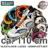 Flexy-Lock-Laces , Schnellschnürsystem 110 cm
