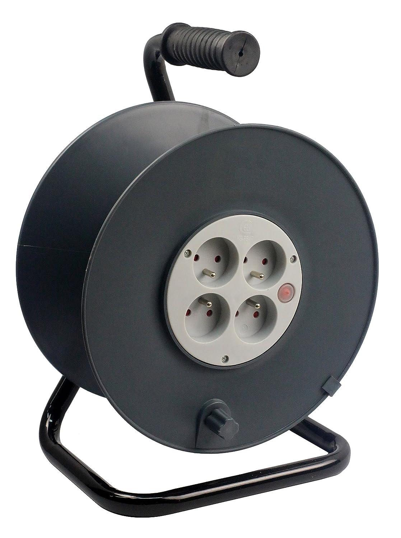 Zenitech Enrouleur 4 prises 2P+T 16A vide /à c/âbler coupe-circuit