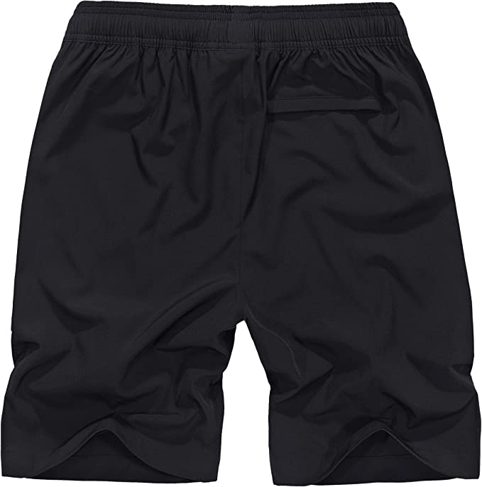 Ancient Star Mens Hiking Shorts Outdoor Quick Dry Running Shorts with Elastic Waist and Zipper Pockets