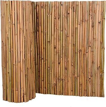 Nature by Kolibri - Estera de bambú para protección visual de terraza, balcón y jardín: Amazon.es: Jardín