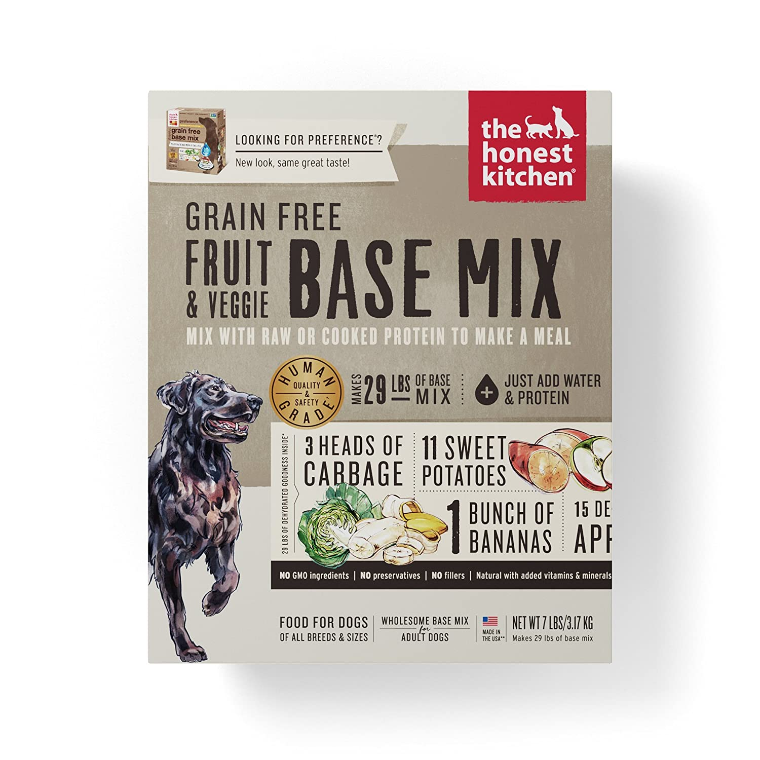 The Honest Kitchen Human Grade Dehydrated Grain Free Base Mix Dog Food