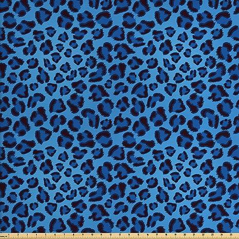 Amazon Com Lunarable Animal Print Fabric By The Yard Leopard