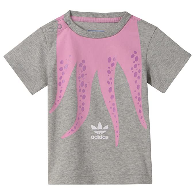 adidas Originals Pulpo Té Trefoil Pulpo - Camiseta infantil Gris Rosa 62 - 86: Amazon.es: Ropa y accesorios