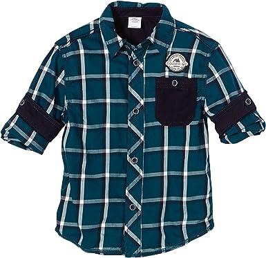 s.Oliver - Camisa a Cuadros de Manga Larga para niño, Color 68n4, Talla 8 años (128 cm): Amazon.es: Ropa y accesorios