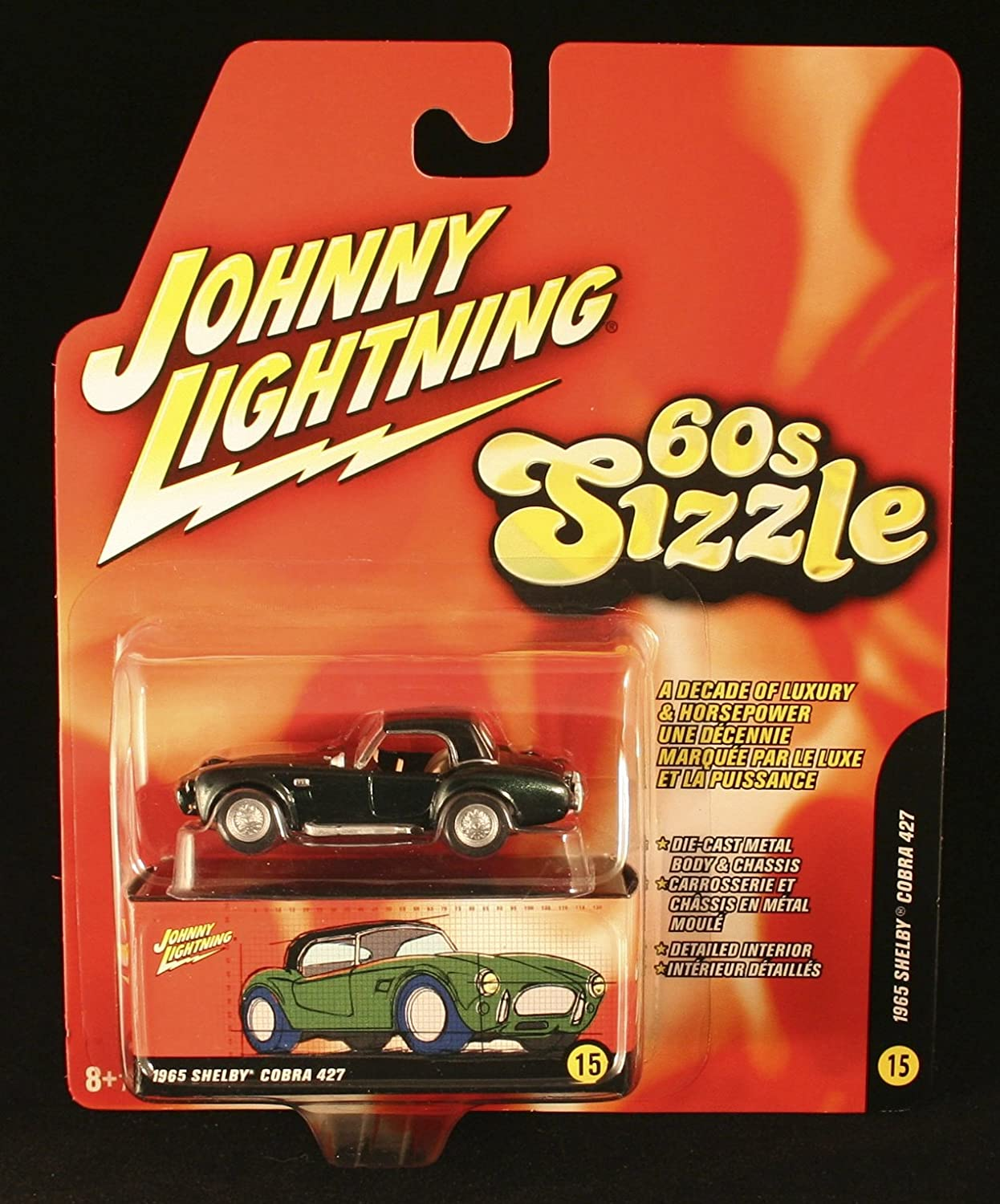 1965 SHELBY CORBA 427  60s Sizzle  Johnny Lightning 2006 DieCast Vehicle  15 of 16