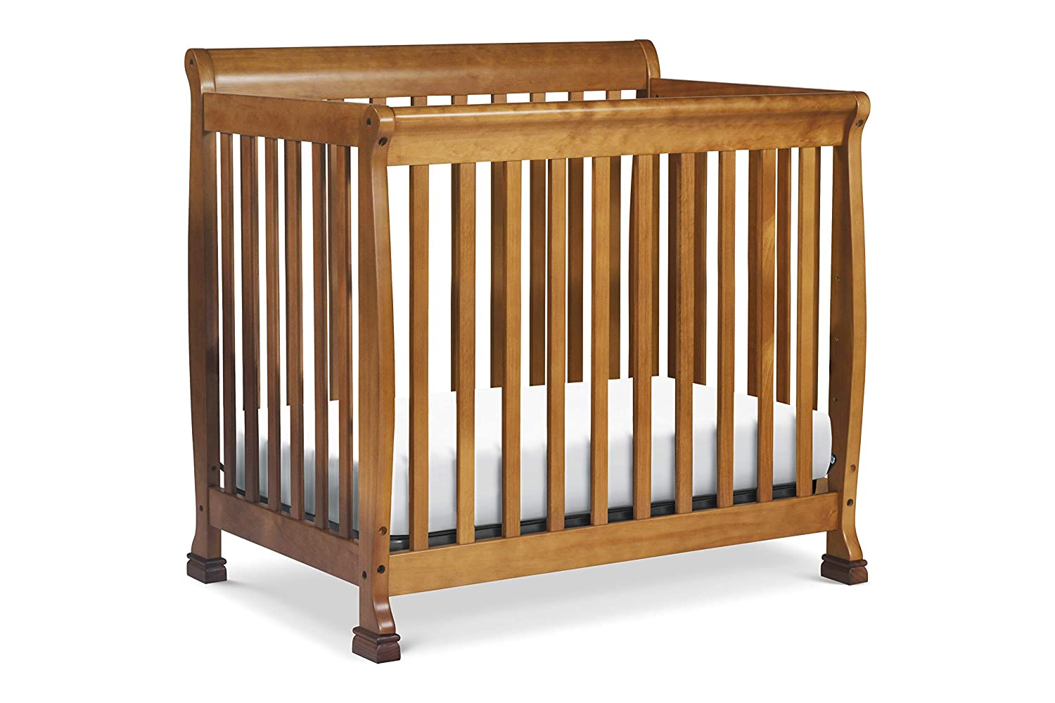DaVinci Kalani 2-in-1 Mini Crib and Twin Bed, Chestnut