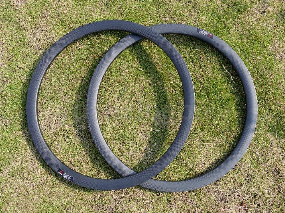 東レカーボンホイールリムフルカーボン3 Kマットロードバイククリンチャーホイールリム38 mmディスクブレーキホイールリム穴: 32、32 B01GS8YHMO